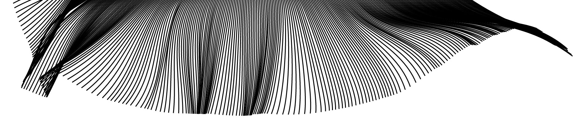 Perlin Noise thick lines wave
