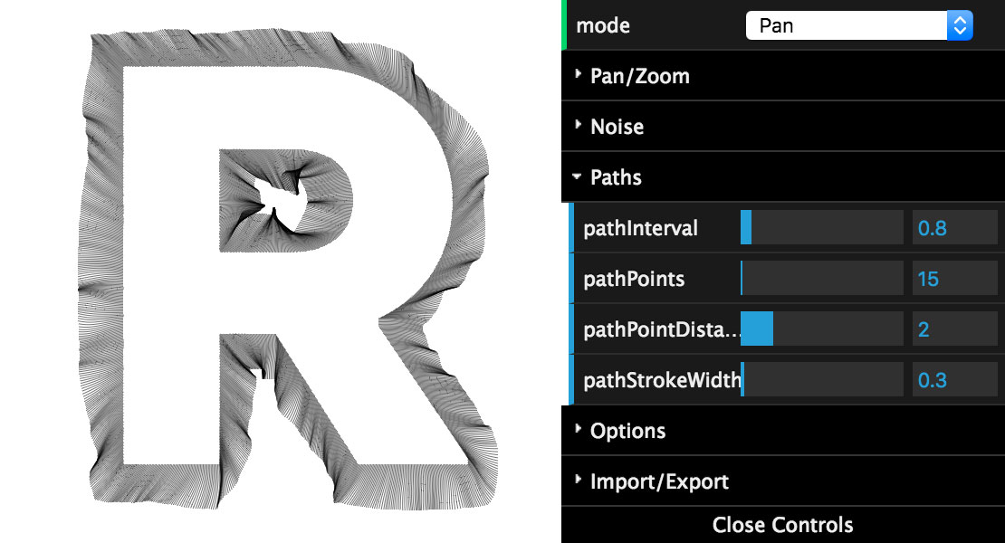Directed Perlin Noise options