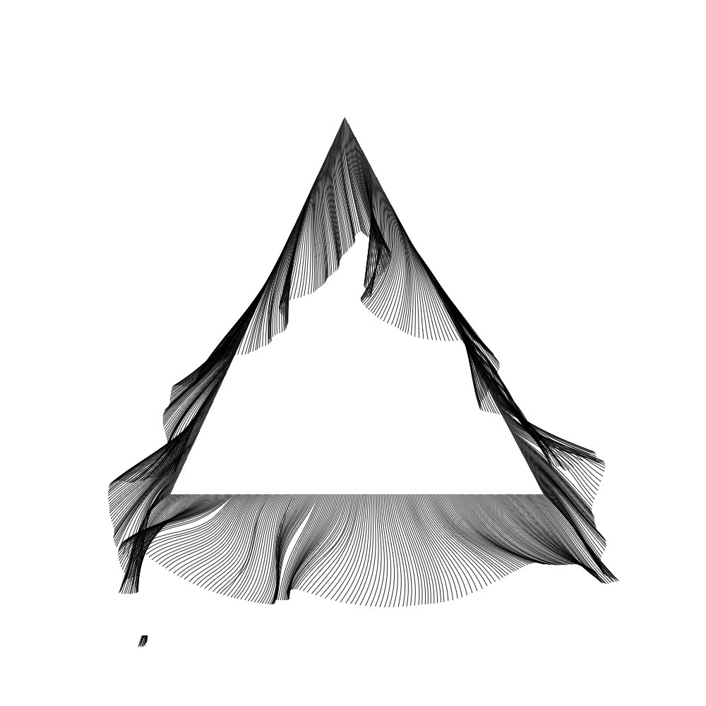 Directed Perlin Noise on triangle perimeter