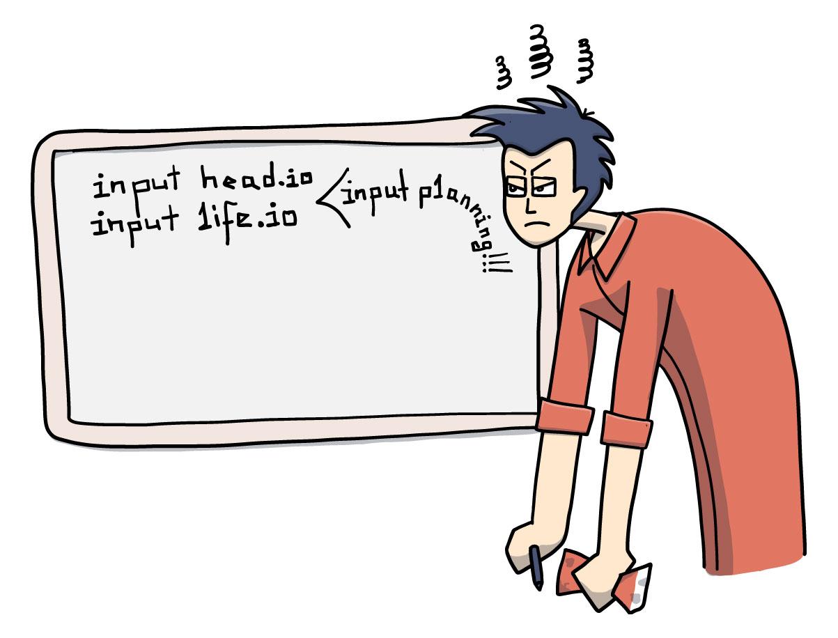 Whiteboard coding illustration
