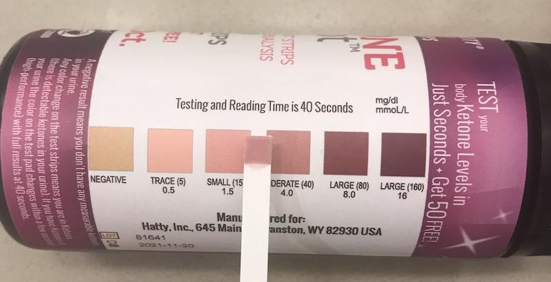 Ketone strips test